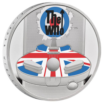 THE WHO MUSIC LEGENDS 1 oz Silver Proof Colored Coin Royal Mint 2021