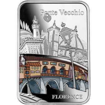 PONTE VECCHIO Bridge Florence Silver Colored Coin Cameroon 2021