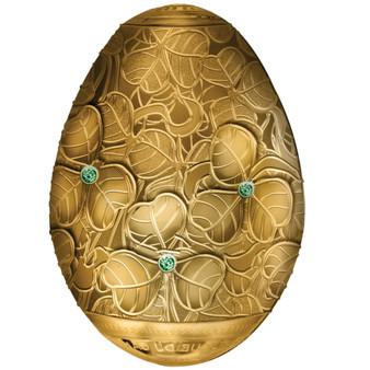 CLOVER LEAF Egg 3D 7 oz Silver Proof Coin 5000 Francs Cameroon 2020