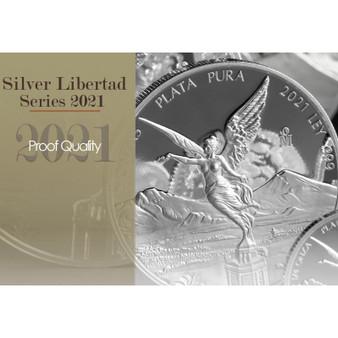 LIBERTAD 1 oz Silver Proof Coin 2021 Mexico