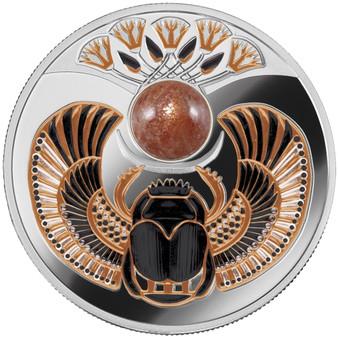 SOLAR SCARABAEUS Silver Proof Coin $1 Niue 2021