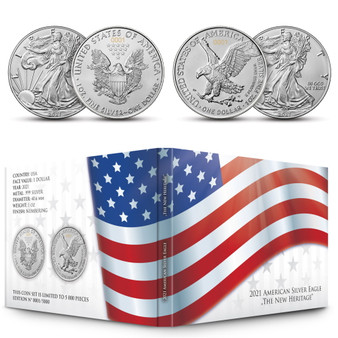 New Heritage - American Silver Eagle 2 coins sets USA 2021