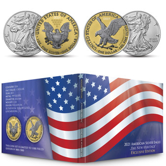 New Heritage - American Silver Eagle Ennobled 2 coins sets USA 2021