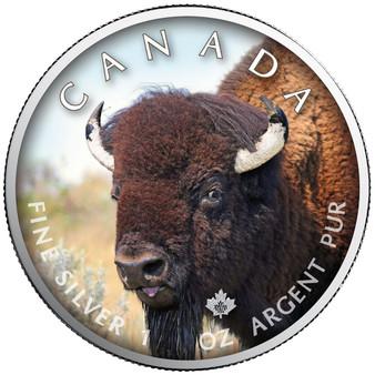 BISON Canada's Wildlife Maple Leaf 1 oz. Silver Coin 2021