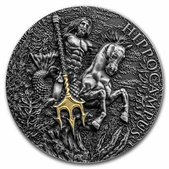 HIPPOCAMPUS High Relief 2 oz Silver Coin Cameroon 2021