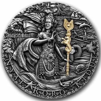 NYAI RORO KIDUL itGoddesses High Relief 2 oz Silver Coin Niue 2020
