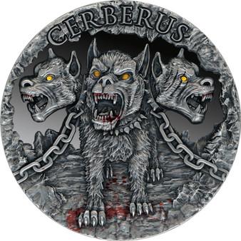 CERBERUS High Relief 2 oz Silver Coin Cameroon 2021