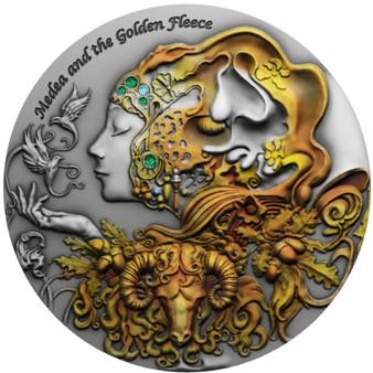 MEDEA GOLDEN FLEECE Myths of Love 2 oz Silver Coin Niue 2021