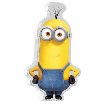 KEVIN The Minion Shape 1 oz Silver Proof Coloured Coin 2021 Niue