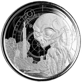 ALIEN 1 oz Silver Coin $5 Ghana 2021