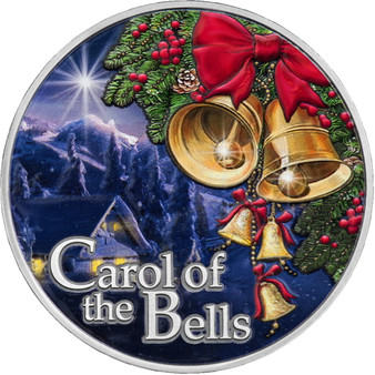 Carol of the Bells Antique finish Silver Coin 500 Francs CFA Cameroon 2021