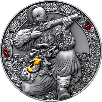 ZAPOROZHIAN COSSACK Legendary Warriors 3 oz Silver Coin Cameroon 2021