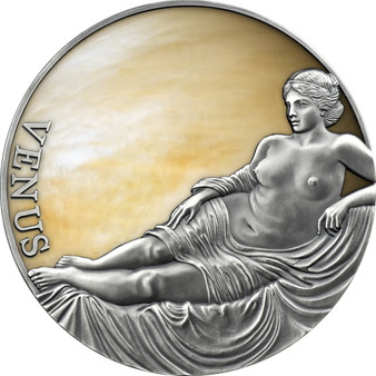 VENUS Planets and Gods 3 oz Silver Antique Finish Coin Cameroon 2021