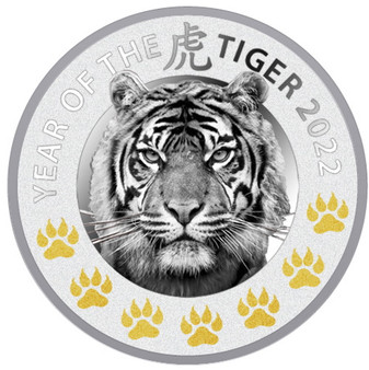 YEAR OF THE TIGER - 7 Elements Silver Proof Coin $2 Niue 2022