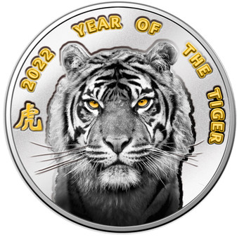 YEAR OF THE TIGER in Blisterpack Silver Proof Coin $1 Niue 2022