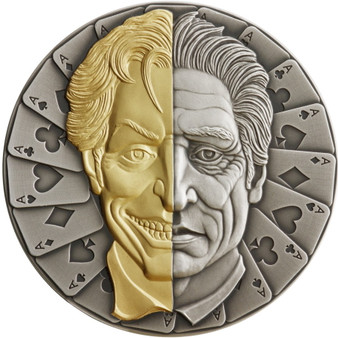 MASK 2 oz Silver High Relief Antique Finish Coin  $2 Niue 2021