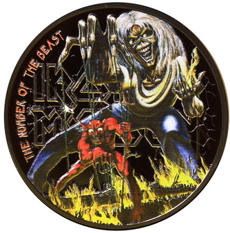 IRON MAIDEN The Number of The Beast 1 oz Silver Coin Cook Islands 2022