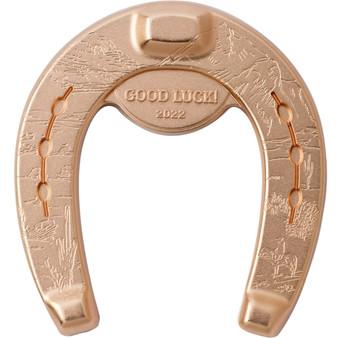 ROSY HORSESHOE 1 oz Silver Gilded Coin $5 Palau 2022