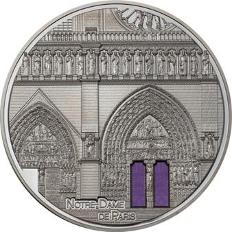 NOTRE DAME DE PARIS Tiffany Art 5 oz Silver Proof Coin Palau 2021