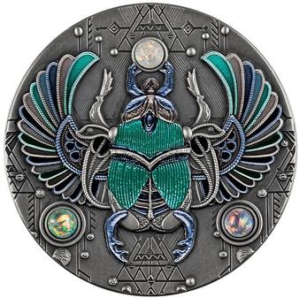 CRYSTAL SCARABAEUS 2 oz Silver Coin $5 Niue 2021