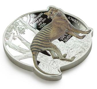 TASMANIAN TIGER 85th Anniversary 1 oz Silver Coin Solomon Islands 2021