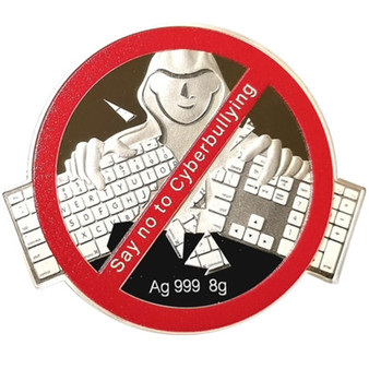Say No to Cyberbullying Silver Coloured Coin Fiji 2021