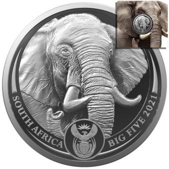 ELEPHANT BIG FIVE II. 5 Rand 1 oz Silver - South Africa 2021