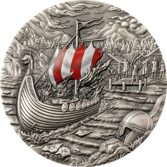 VIKINGS Afterlife Rites of Passage 2 oz Silver Coin $10 Palau 2021