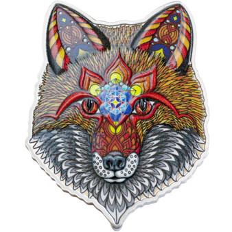 ELECTRIC FOX Spirit Animals Phil Lewis 1 oz Silver Coin Solomon Islands 2021