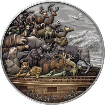 NOAH ARK 5 oz Silver Coin $10 Tokelau 2021
