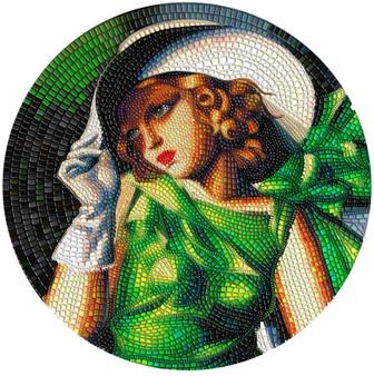 YOUNG GIRL IN GREEN Tamara de Lempicka 3 oz Silver Coin Palau 2021