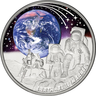 EARTH BLUE MARBLE 1 oz Silver Proof Coin 2022 Niue