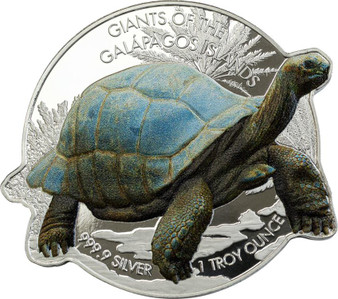 TORTOISE Giants Of The Galapagos 1 oz Silver Coin Solomon Islands 2021