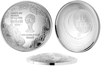 2014 FIFA World Cup Brazil Silver Proof Curved Coins