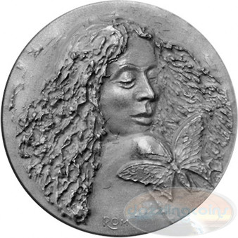 """SUMMER Silver Coin """" Four Seasons of the Year""""  UHR Satin Andorra"""