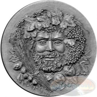 "AUTUMN Silver Coin "" Four Seasons of the Year""  UHR Satin Andorra"