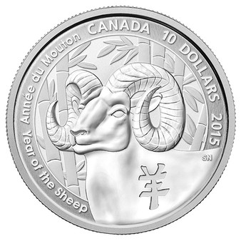 1/2 oz. Silver Coin - Year of the Sheep Canada 2015