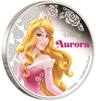 Disney Princess Aurora - 2015 Niue 1 oz Silver Coin