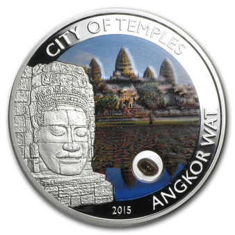 City of Temples-Angkor Wat Silver Coin 5$ Cook Island 2015