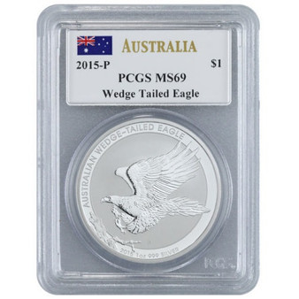 2015-P Australia PCGS MS 69 Wedge Tailed Eagle~Mercanti Signed