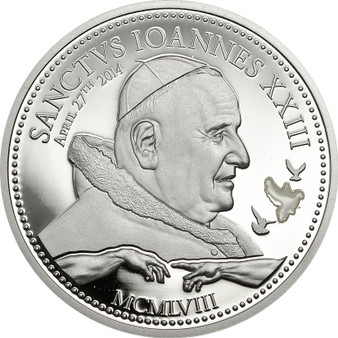Pope Johannes XXIII~Silver Coin 2$ Cook Island 2014