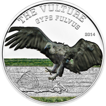 Vulture Gyps Vulvis -1000 Shilling Tanzania 2014 Silver Coin
