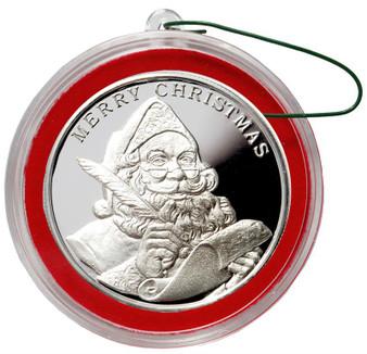 2015 SANTA Claus Christmas Round Silver 1 oz .999
