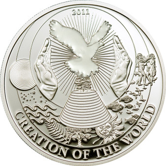 Creation of the World - Biblical Stories Silver Coin 2$ Palau 2011