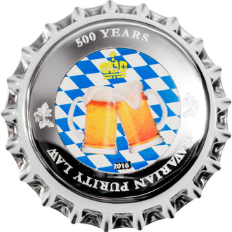 500 Years of BAVARIAN LAW - Palau 2016 $1 2.5 g Pure Silver Coin