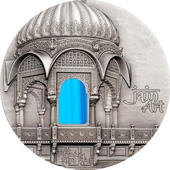 Palau 2016 $10 Tiffany Art - Jain Temple India 2 Oz Silver Coin R