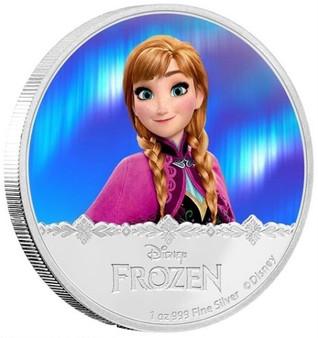 Anna - Disney Frozen Series- 2016 Niue 1 oz Silver Coin