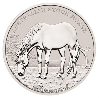 2016 1 oz Silver Coin - Australian Stock Horse Perth Mint