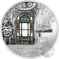 Windows of Heaven - Hagia Sophia 50 g Proof Silver Coin Cook Islands 2016
