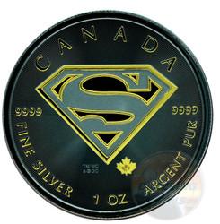 Superman S-Shield 1oz Gold Black Empire Gilded 2016 Canada
